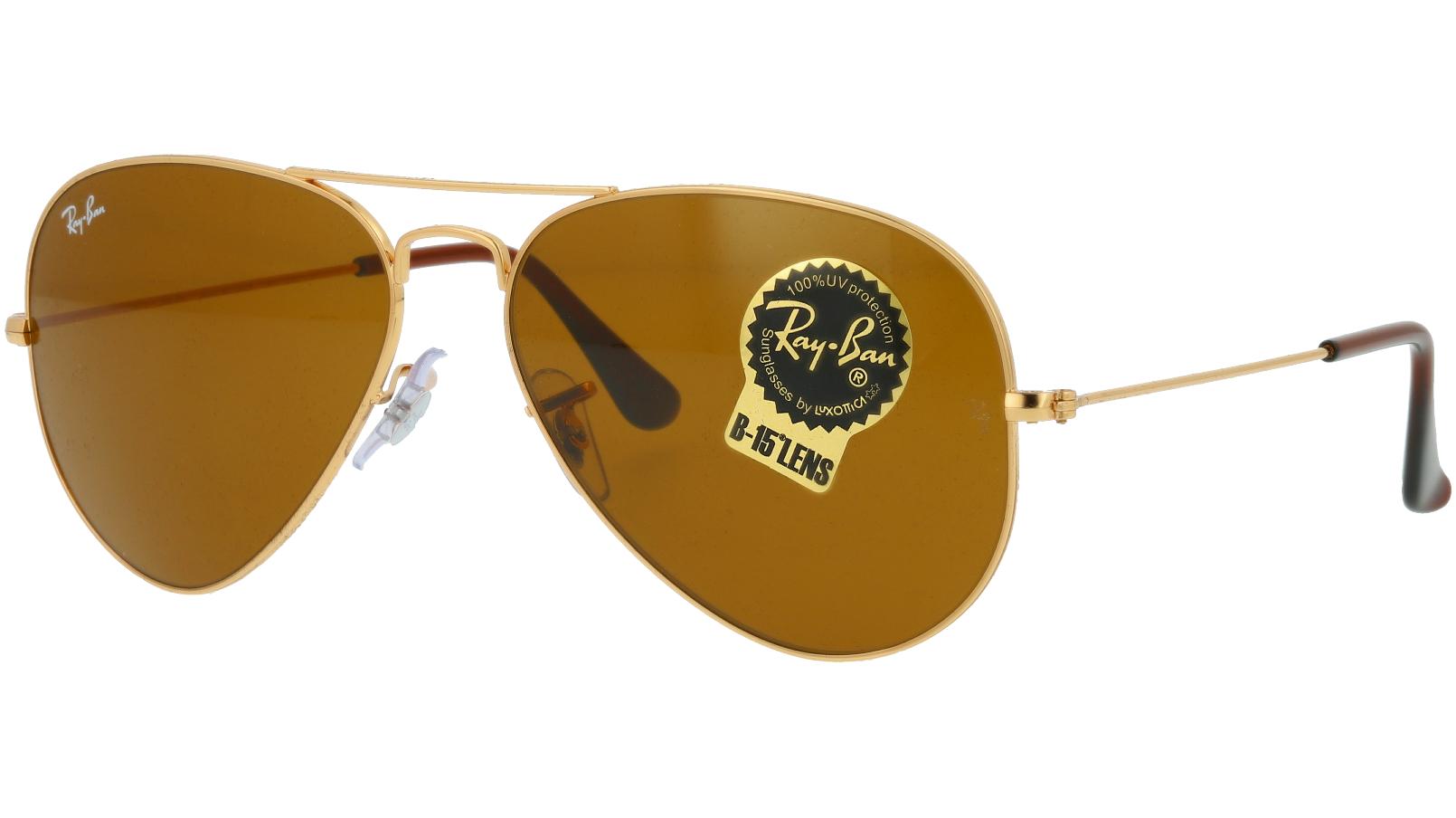 Ray-Ban RB3025 001/33 58 Arista Pilot Sunglasses
