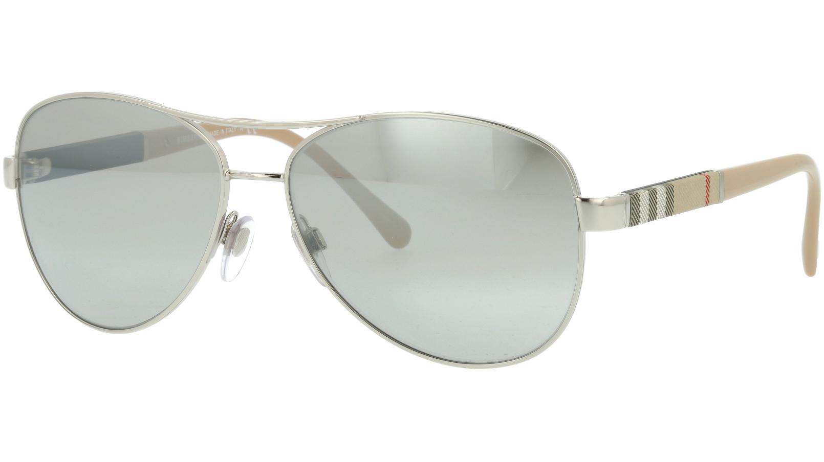 Burberry BE3080 10056V 59 SILVER Sunglasses