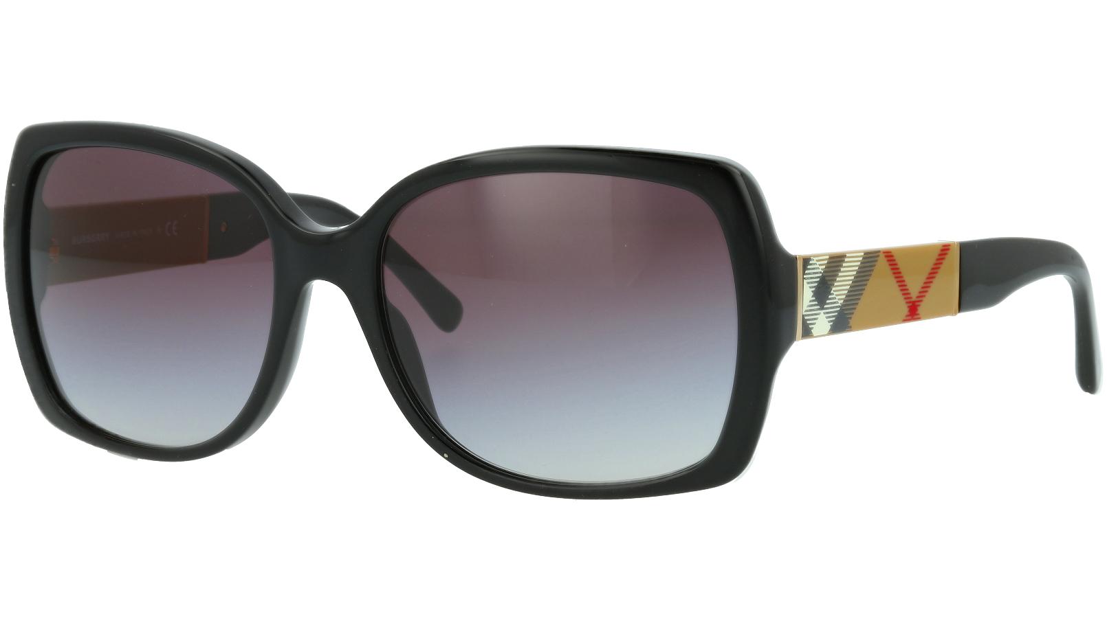 Burberry BE4160 34338G 58 BLACK Sunglasses