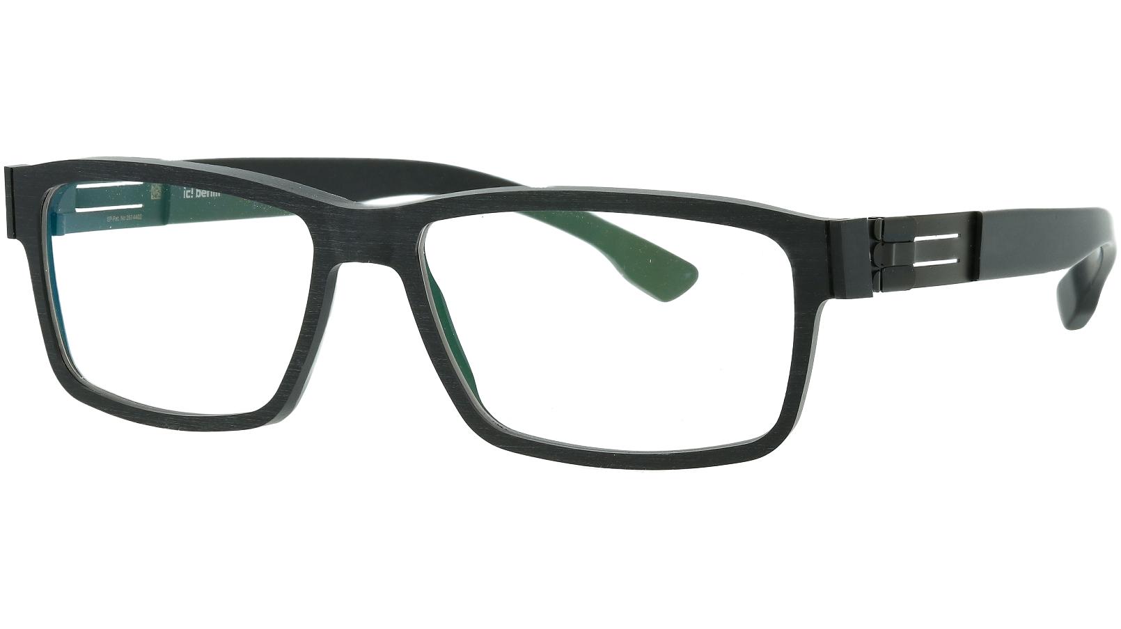 ic! Berlin Hack Black-Rough 55 Mittwoch Glasses